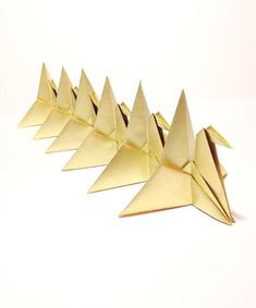 Gold Origami Cranes Gold Wedding Table Decorations Golden