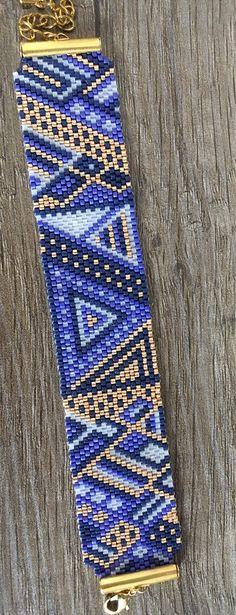 Bracelet manchette en perles miyui psychédélique