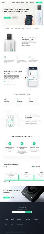 nello one landing page design inspiration - Lapa Ninja Best Landing Page Design, Best Web Design, Website Design Layout, Website Designs, Digital Web, Website Design Inspiration, Design Ideas, Mobile Design, Design Reference