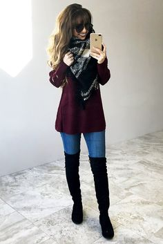 Be Like That Sweater: Oxblood