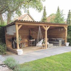 Backyard patio - 60 Summery DIY Backyard Projects Ideas to Mesmerizing Your Summer – Backyard patio Backyard Patio Designs, Backyard Projects, Diy Patio, Patio Ideas, Small Backyard Design, Diy Projects, Backyard Storage Sheds, Backyard Sheds, Garden Gazebo