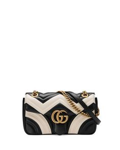 2121b497e8 GUCCI Gg Marmont Small Quilted Shoulder Bag