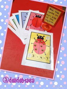 Cute addition playdough mats found on: http://www.harrietandviolet.com/downloads/ladybird-playdough-mats-add-spots-for-addition-activity/