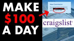 How to Make $100 Per Day Online On CRAIGSLIST In 2021 Make Money Blogging, Make Money From Home, Make Money Online, How To Make Money, How To Become, Online Marketing Strategies, Affiliate Marketing, Impossible Dream, Seo Services