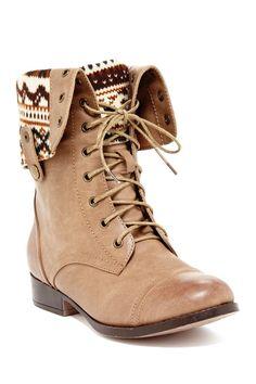 Elegant Footwear Sharpery Combat Boot