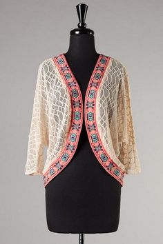 Flying Tomato Embroidery Cardigan
