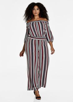 27041ae3552 Striped Jumpsuit Plus Size Jumpers