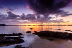 Sunset in Corong Corong Beach, El Nido Shangri La, El Nido Palawan, Puerto Princesa, Seven Days, Sunsets, Travel Photos, Philippines, River, Island