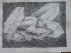 Age 12 ~ Geometric Drawing ~ Six Sided Crystal ~ main lesson book