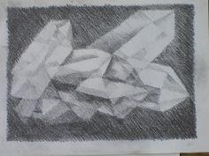B&W Drawing in Grade 6