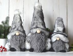 Christmas Gift For You, Christmas Holidays, Christmas Decorations, Fluffy Rabbit, Rabbit Fur, Swedish Tomte, Scandinavian Gnomes, Nordic Home, Valentine Day Gifts