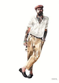 Fashion Shoes Illustration Collection_kasiq on Behance Illustration Mode, Fashion Illustration Sketches, Fashion Design Sketches, Fashion Art, Girl Fashion, Mens Fashion, Fashion Shoes, Sketches Of People, Watercolor Fashion