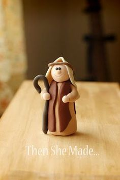 Then she made.: Nativity Tutorial - June & July, The Shepherd Polymer Clay Ornaments, Polymer Clay Projects, Polymer Clay Creations, Clay Crafts, Felt Ornaments, Nativity Crafts, Christmas Nativity, Christmas Fun, Christmas Decorations