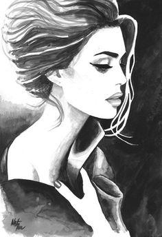 Watercolor Portrait Illustrations by Natalia Turea