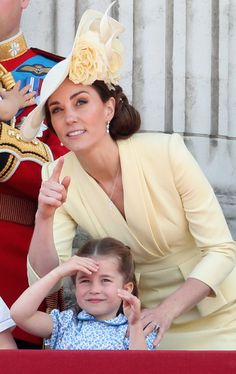 Kate Middleton Photos - Catherine, Duchess of Cambridge and Princess Charlotte of Cambridge during Trooping The Colour, the Queen's annual birthday parade, on June 8, 2019 in London, England. - Trooping The Colour 2019