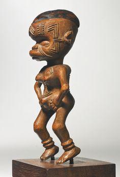 Makonde Female Figurine, Mozambique Height: 4 1/2 in (11.4 cm)