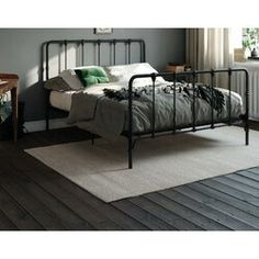 New Viviana Farmhouse Metal Platform Bed by Laurel Foundry Modern Farmhouse top rated furniture sale. Fashion is a popular style Platform Bed Designs, Metal Platform Bed, Queen Platform Bed, Upholstered Platform Bed, Bed Slats, Under Bed Storage, Bed Reviews, Headboard And Footboard, Headboards