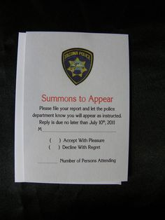 Police File Wedding Invitation Suite  Fun and by uniquelyyourspd, $2.95