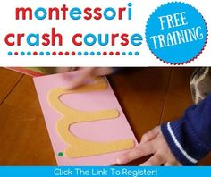 Free Montessori Crash Course Workshop for parents who want to use Montessori at home