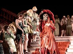 "Lon Chaney (""The Man of a Thousand Faces"") as the Phantom in ""Phantom of the Opera"" (dir. Rupert Julian, 1925). Bal Masqué scene shot in a two-color Technicolor system."