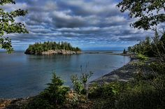 """Silent Shores,"" Marvil LaCroix of Silver Bay, MN Ellingsen Island, Split Rock State Park, Two Harbors, MN"