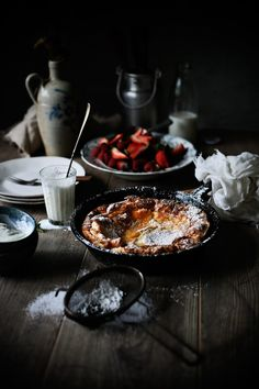 Pratos e Travessas: Panqueca alemã de erva doce e limão # Fennel seed and lemon dutch pancake | Food, photography and stories