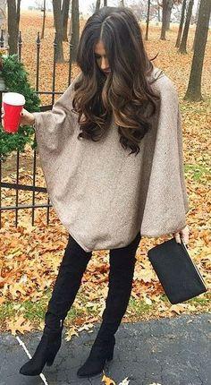 fall fashion poncho
