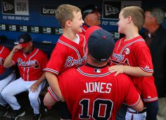 Sept. 28, 2012 - Chipper Jones tribute night at Turner Field: Chipper and two of his sons