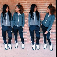 A fashion look from October 2016 Sisters Goals, Bff Goals, Squad Goals, Couple Goals, Go Best Friend, Best Friend Goals, Best Friends, Thing 1, Dope Outfits
