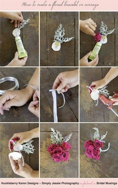 How To Make A Pretty Floral Bracelet / Wrist Corsage