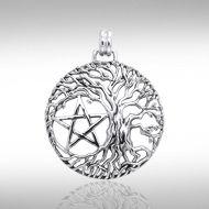 Mickie Mueller Tree Pentagram Pendant TPD3377