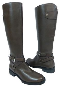 774214bc1b4f5 Enzo Angiolini Brown Saevon Knee High Riding Boots Booties Size US 5.5  Regular (M