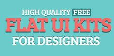 High Quallity Free Flat UI Kits For Designers