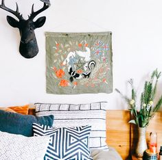 Shop The extra large Ignatius black deer head wall mount. Fast shipping on all our faux animal heads.A by White Faux Taxidermy. Faux Deer Head, Black Deer, Stag Deer, Faux Taxidermy, Animal Heads, Waxed Canvas, White Walls, Wall Mount, Moose Art