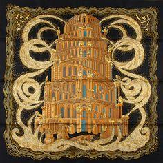 luxury-scarves.com 'Les Rivières de Babel', Annie Faivre. 2005/06