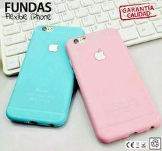 CARCASA SILICONA FUNDA GOMA TPU de iPhone 5 / iPhone 6 / iPhone 6 Plus FLEXIBLE…