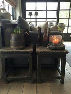 Puur Wonen Vibeke Design, Living Spaces, Living Room, Interior Decorating, Interior Design, Rustic Interiors, Home Decor Accessories, Apartment Living, Decoration