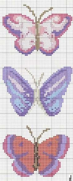 Mariposas malvas