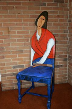 "$495.00 Modigliani chair ""Jeanne Hebuterne in a Red Shawl"""