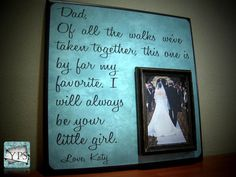 Personalized Father of the Bride Picture Frame by YourPictureStory, $65.00