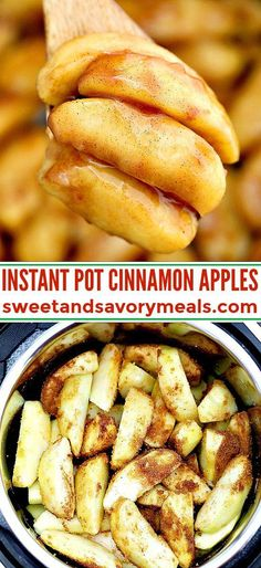 Instant Pot Cinnamon Apples make for a perfect fall side dish or dessert! Pressure cook this quick and simple dish for just two minutes to make an easy and delicious dessert! pot recipes easy Instant Pot Cinnamon Apples [video] - Sweet and Savory Meals Instant Pot Pressure Cooker, Pressure Cooker Recipes, Slow Cooker, Köstliche Desserts, Delicious Desserts, Food Deserts, Dessert Dishes, Plated Desserts, Instant Pot Dinner Recipes