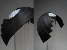 The Moon and the Night Sky  Crystals and separate bands made of cotton duchesse mounted on a Buckram and wire-base. Shiny