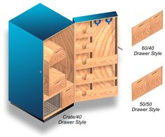 Elite Tack Design - Western Tack Cabinet, Low-cost, Simple-to-build, Tack Cabinet Plans