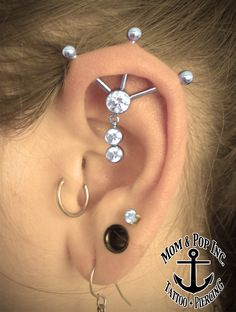 Modified Industrial, Custom Ear Piercing, Unique Piercing, Reverend Sean Theroux, Mom & Pop Tattoo and Piercing, 288 Plymouth Ave Fall River Ma, 508-SKIN-ART