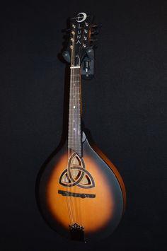Luna Trinity A Style Acoustic Mandolin w/ Celtic Inlay