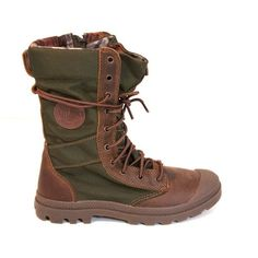 Palladium Women's Pampa Tactical - Brown Military-Style Flat All-Weather  Boot