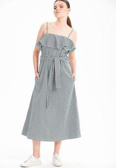 Love My Body - Çizgili Uzun Elbise