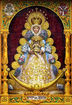 Virgen del Rocío Panel de Azulejos