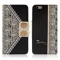 "Shensee Iphone 6 Case, Fresh Cute Flip Wallet Leather Case Cover for Iphone 6 Plus 5.5"" Black, Women Bag, Dirt-resistant, Anti-knock, Rhinestone Case, Compact, Elegant, Stylish, Card Slots for Carrying Id, Cash and Credit Cards Holder Shensee http://www.amazon.com/dp/B00ZQKDTBQ/ref=cm_sw_r_pi_dp_JvIGvb0GF4A9W"