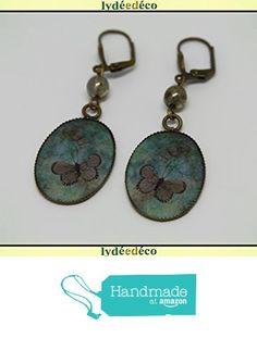 Boucles d'oreilles retro vintage resine Papillon vert marron laiton bronze perles verre pendentifs 18x25mm attaches coquillage à partir des Lydee Deco https://www.amazon.fr/dp/B073R1FVCF/ref=hnd_sw_r_pi_dp_sOlyzb0WB12V6 #handmadeatamazon